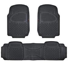 Motor Trend Heavy Duty Rubber Floor Mats 3D Heavy Duty Front & Rear Black Ridged