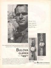 1958 Bulova  PRINT AD  Details Men's Clipper 3 Models American, Royal and Jet