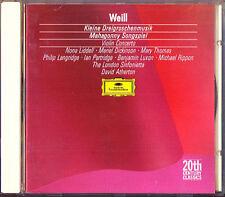 Kurt WEILL Dreigroschenmusik Mahagonny Violin Concerto Nona Liddell ATHERTON CD