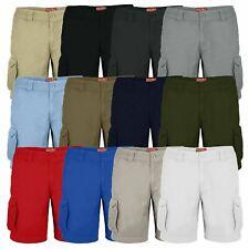 WestAce Mens Cargo Combat Shorts Casual Work Wear 100% Cotton Cargo Half Pants