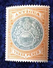 Antigua Edward VII 1903 arms of colony Wmk Crown CC 3d green & orange SG35 m/min