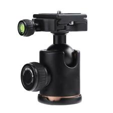 Aluminum Camera Tripod Ball Head Ballhead With Quick Release Plate 1/4 in Screw