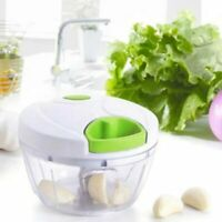 Food Processor Manual Shredder Vegetable Meat Chopper Slicer Mincer Tool