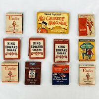 Vintage Matchbook Matches Tobacco Cigarettes Cigars Lot of 11 Cavalier Sano