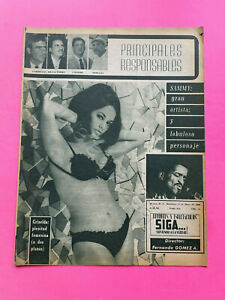 Mexican Siga Vedette, Sports & TV Magazine Cover Griselda Mejia #614 May 1969