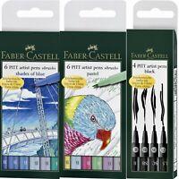 Faber Castell Artist Pens 4 Pitt & 6 Pitt Brush Tip Multiple Styles new! *SALE*