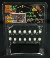 Lemax Spooky Town Collection String of 14 Lighted Skulls Halloween New, Sealed!