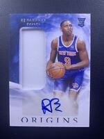 RJ Barrett 2019-20 Panini Origins RPA #163 New York Knicks Rookie Patch Auto RC