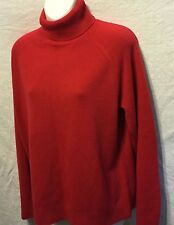 5f6e5bb7a8 Mercer Street Studio Turtleneck Sweater Sz L Solid Red Ribbed Trim Acrylic  NWT
