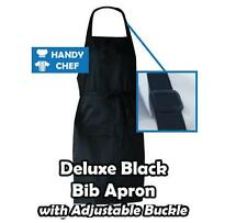 Chef Bib Apron Black - see handychef store for quality chef jackets,pant,caps.,