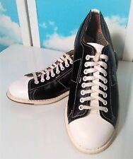 Men's Linds Premium Bowling Shoes Left Foot Slide Size 6 D Black White