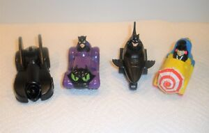 Vintage McDonald's 1991 Batman Set / Complete 4 Piece Set / Clean Set
