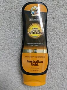 Australian Gold Dark Tanning Accelerator Lotion With Bronzers 8oz Vitamin E