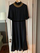 Dries Van Noten Black Maxi Dress Small UK10