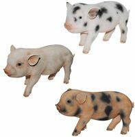 Micro Pig Piglet - Lifelike Ornament Gift - Indoor or Outdoor - Pet Pals NEW