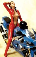 """Legend 150mm 1/12 """"Need for Speed"""" Girl in Red Leather Suit on Motorcycle LF1505"""