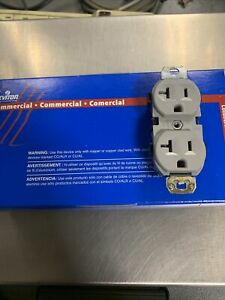 (10 Pack) Leviton CR20-GY 20A 125V Duplex Receptacle Grey Outlet New Unopened