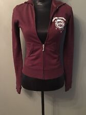 Juicy Couture Purple Cotton Hoddie with White Rhinestone Crystal P