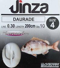 Grauvell Jinza Hameçon à daurade N°4 monté Fluorocarbone en 30/100 longueur 2M