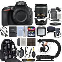 Nikon D5600 Digital SLR Camera with 18-55mm VR Lens + 64GB Pro Video Kit