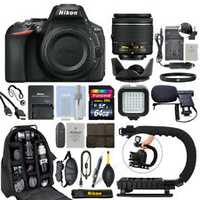 Nikon D5600 Digital SLR Camera with 18-55mm VR Lens + 64GB Pro Video Kit