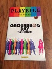 LIMITED EDITION LGBT GROUNDHOG DAY 2017 TONY NOMINEE PLAYBILL PERFECT CONDITION