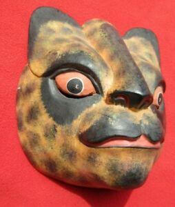 Balinese Primitive Barong Cat Mask ~ King Of Spirits & Guardian Of Good