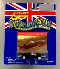 JOHNNY LIGHTNING 1963 JAGUAR E-TYPE ROADSTER PLAYING MANTIS (VAULT CARD STICKER)
