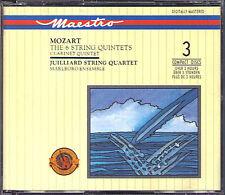 JUILLIARD STRING QUARTET: MOZART 7 Streichquartett & Clarinet Quintet CBS 3CD