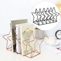 Desktop Holder Iron Grid Magazine Storage Rack Books Organizer Practical Office