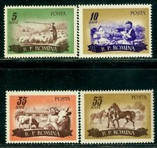1955 Horse,Pig,Sheep,Cattle,cow,Farming,Animal Husbandry,Romania,1551,CV$22,MNH