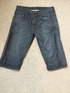 All Saints Mens Atlantic Scood Denim Shorts 32 Waist Great Condition