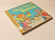 The Berenstain Bears Forget Their Manners Hardcover book 1985 Vintage Library