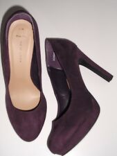 Ladies Shoes Size 5 Wide Fit Purple Court Platform New Look Immaculate