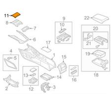 Audi A6 C7 Center Console Trim Molding 4G0863440ABAR8 NEW GENUINE