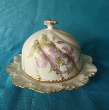 Frederic Lanternier AL LIMOGES Depose FRANCE Satin Bisque COVERED CHEESE DISH