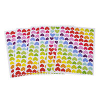 6stk Bunt Herz Aufkleber Foto Tagebuch Scrapbooking Memo Love Klebe Sticker