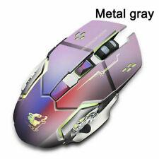 UK X8 Wireless Gaming Mouse Rechargeable Silent LED Backlit Optical Ergonomic