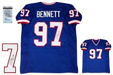 Cornelius Bennett Autographed SIGNED Jersey - JSA Witnessed Authentic - Royal