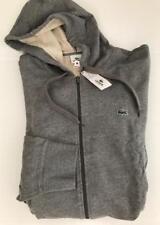 Lacoste Big Tall 4XLT NWT $135 Gray Zip Sweatshirt Cotton Fleece Hood Jacket NEW