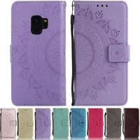 Mandala Wallet Leather Flip Case Cover For Samsung S9 S8 Plus S7 S6 S5 J510 J530
