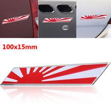 100mmx15mm Japanese Emblem Badge Car Motorcycle Sticker Japan Rising Sun Flag