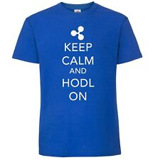 XRP Ripple T-Shirt  Keep Calm and Hodl On -  Crypto by My Cup Of Tee