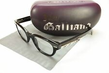 John Galliano Authentic Eyeglasses Frame JG5018 001 Plastic Black Over Newspaper