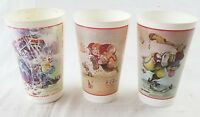 Vintage Gary Patterson icee plastic cups lot of 3 giveaway used