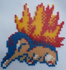 Cyndaquil (Pokemon) - Bead sprite perler pixel art - Perles à repasser
