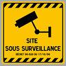 SITE SOUS VIDEO SURVEILLANCE CAMERA PROTECTION 12cm AUTOCOLLANT STICKER VA094