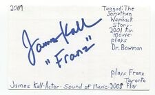 James Kall Signed 3x5 Index Card Autographed Signature Actor