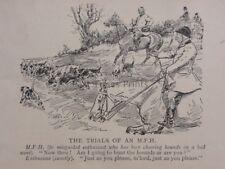 La chasse, Fox & chiens les essais d'un M.F.H. antique punch Cartoon
