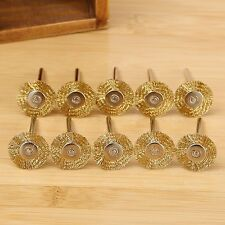 22MM Brass Wire Wheel Brushes Polishing Tool for Die Grinder Power Rotary 10PCS